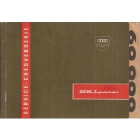 DKW Junior Onderhoudsboekje Benzine Fabrikant 1962 met gebruikssporen tot 60.000km gebruikt  Nederlands