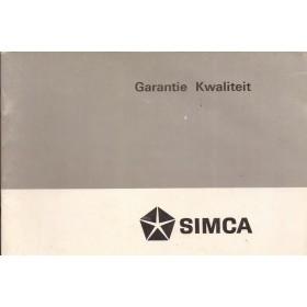 Chrysler Simca Onderhoudsboekje Benzine Fabrikant 1976 ongebruikt  Nederlands