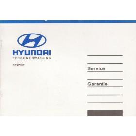 Hyundai Onderhoudsboekje Benzine Fabrikant 2004 met gebruikssporen 1 coupon gebruikt Nederlands