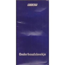 Fiat Onderhoudsboekje Benzine Fabrikant ca. 1985 met gebruikssporen lichte kreukels folie achterzijde kaft laat los Nederlands