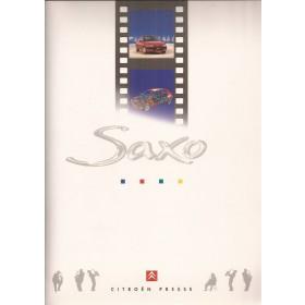 Citroen Saxo, persdossier, 95, met gebruikssporen, Nederlands