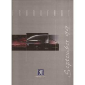 Peugeot 607, persdossier, 99, ongebruikt,  Engels