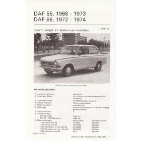 DAF 55/66 Vraagbaak losbladig P. Olyslager  Benzine Kluwer 1968-1974 ongebruikt   Nederlands
