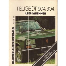 Peugeot 204/304 Leer 'm kennen K. Ball  Benzine Kluwer 65-77 met gebruikssporen   Nederlands
