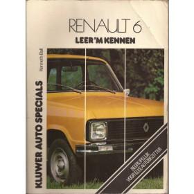 Renault 6 Leer 'm kennen K. Ball  Benzine Kluwer 68-77 met gebruikssporen vouw in kaft  Nederlands