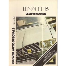 Renault 16 Leer 'm kennen K. Ball  Benzine Kluwer 65-75 ongebruikt   Nederlands