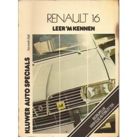 Renault 16 Leer 'm kennen K. Ball  Benzine Kluwer 65-75 met gebruikssporen   Nederlands