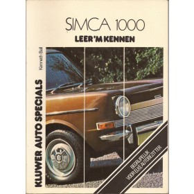 Simca 1000 Leer 'm kennen K. Ball  Benzine Kluwer 64-75 ongebruikt in sellofaan  Nederlands