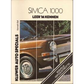 Simca 1000 Leer 'm kennen K. Ball  Benzine Kluwer 64-75 ongebruikt   Nederlands