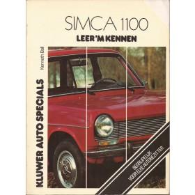 Simca 1100 Leer 'm kennen K. Ball  Benzine Kluwer 67-77 met gebruikssporen met notities, hoekje van kaft  Nederlands