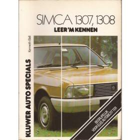 Simca 1307/1308 Leer 'm kennen K. Ball  Benzine Kluwer 75-79 met gebruikssporen   Nederlands
