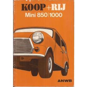 Austin Mini Koop + rij   Benzine ANWB 75 met gebruikssporen kaft losgeweest  Nederlands