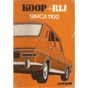 Simca 1100 Koop + rij   Benzine ANWB 75 met gebruikssporen   Nederlands