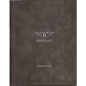Bentley Continental GT Persmap   Benzine Fabrikant 02 ongebruikt   Engels