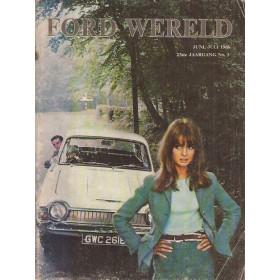 Ford Alle Ford Wereld   editie juni-juli 1966  66 met gebruikssporen   Nederlands