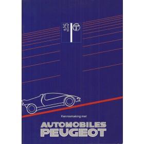 Peugeot Alle Kennismaking met Automobiles Peugeot    Fabrikant 91-87 ongebruikt   Nederlands