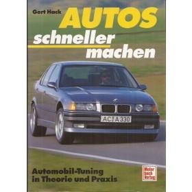 Alle modellen Auto schneller machen overzichtsboek Motor Buch Verlag G. Hack 93 met gebruikssporen Duits