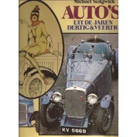 Alle modellen Auto's door de jaren heen 1930-1949 overzichtsboek M. Sedgwick 79 met gebruikssporen Nederlands