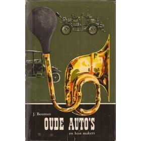 Alle modellen Oude Auto's en hun makers overzichtsboek J. Bouman 64 met gebruikssporen Nederlands