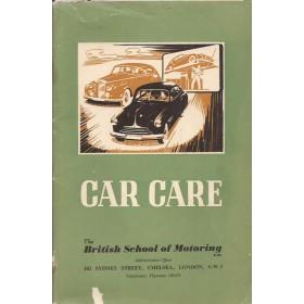 Algemeen Car Care British School of Motoring overzichtsboek 1956 Castrol met gebruikssporen Engels