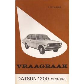 Datsun 1200 Vraagbaak P. Olyslager  Benzine Kluwer 70-73 met gebruikssporen   Nederlands