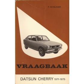 Datsun Cherry Vraagbaak P. Olyslager  Benzine Kluwer 71-75 met gebruikssporen   Nederlands