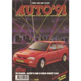 Jaarboek F. van der Vlugt Alle modellen Auto 91 ongebruikt   Nederlands