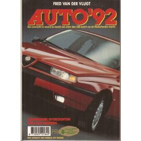 Jaarboek F. van der Vlugt Alle modellen Auto 92 ongebruikt   Nederlands