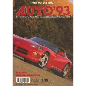 Jaarboek F. van der Vlugt Alle modellen Auto 93 ongebruikt   Nederlands