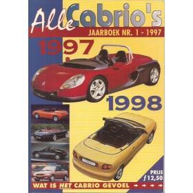 Jaarboek Alle Cabrio's Alle modellen Auto 97-98 ongebruikt   Nederlands