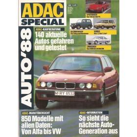 Jaarboek  Alle modellen ADAC Special 88 met gebruikssporen Duits