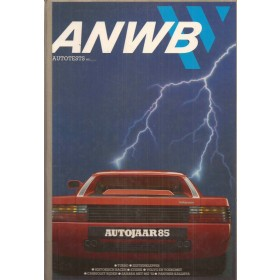 ANWB Autojaar 85, jaarboek, 85, met gebruikssporen ex-bibliotheek harde kaft, Nederlands