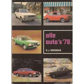 Jaarboek  Alle auto's Alle modellen Alk 1978 met gebruikssporen Nederlands