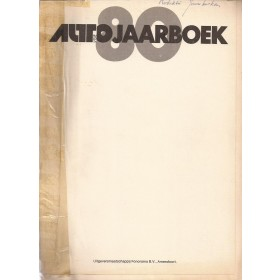 Jaarboek  Alle modellen Autovisie 80 met gebruikssporen voorkaft ontbreekt, losse pagina's  Nederlands