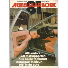Jaarboek  Alle modellen Autovisie 81 met gebruikssporen   Nederlands