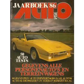 Jaarboek  Alle modellen Autovisie 86 met gebruikssporen   Nederlands