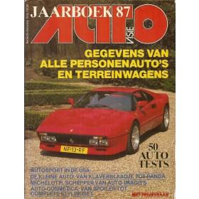 Jaarboek  Alle modellen Autovisie 87 met gebruikssporen   Nederlands