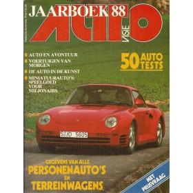 Jaarboek  Alle modellen Autovisie 88 met gebruikssporen   Nederlands