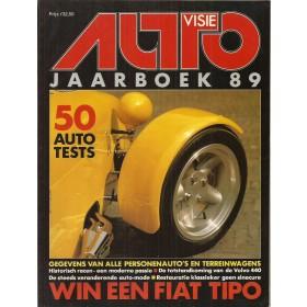 Jaarboek  Alle modellen Autovisie 89 met gebruikssporen   Nederlands