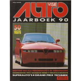 Jaarboek  Alle modellen Autovisie 90 met gebruikssporen   Nederlands