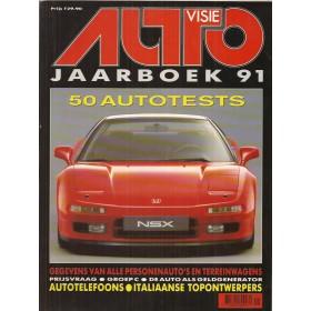 Jaarboek  Alle modellen Autovisie 91 met gebruikssporen   Nederlands
