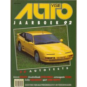 Jaarboek  Alle modellen Autovisie 92 met gebruikssporen   Nederlands