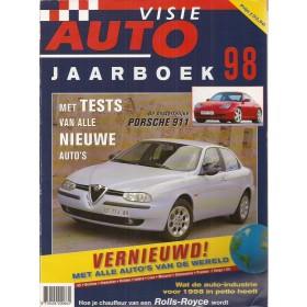 Jaarboek  Alle modellen Autovisie 98 met gebruikssporen   Nederlands
