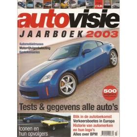 Jaarboek  Alle modellen Autovisie 03 met gebruikssporen   Nederlands