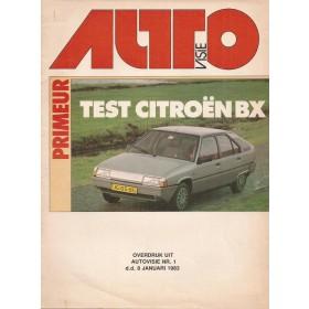 Citroen BX Autovisie overdruk 12 pagina's 1983 met gebruikssporen Nederlands