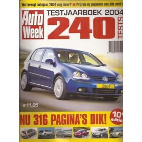 Jaarboek  Alle modellen Autoweek 04 met gebruikssporen   Nederlands