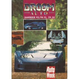 Jaarboek  Droomauto Autoweek 93 94 met gebruikssporen los in kaft  Nederlands
