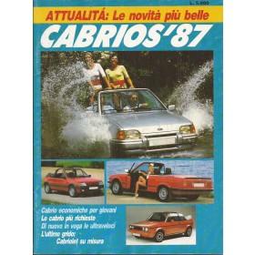 Jaarboek  Alle Cabrio's 87 met gebruikssporen Italiaans