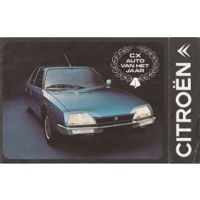 Citroen Alle Jaarboek  Alle modellen Citroen 1975 met gebruikssporen Nederlands