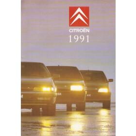 Citroen Alle Jaarboek  Alle modellen Citroen 1991 met gebruikssporen Nederlands